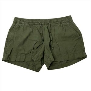 """Old Navy M Olive Green Linen Shorts 4"""""""
